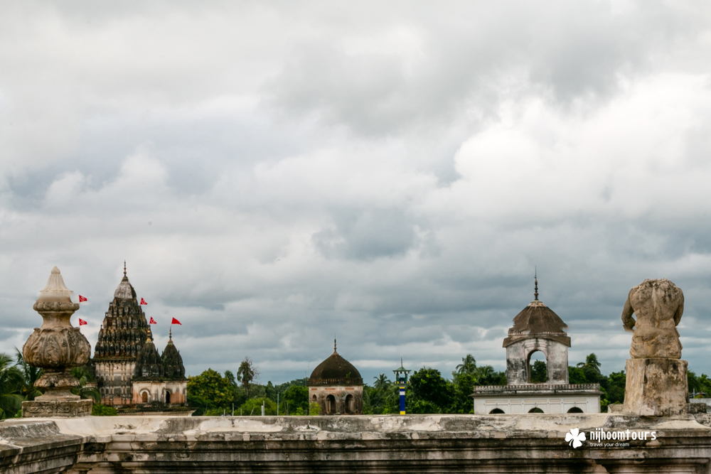 The Skyline of Puthia, an amazing village in Bangladesh full of beautiful temples.