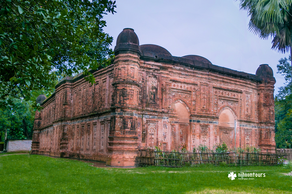Bagha Mosque in Rajshahi, one of the most beautiful mosques in Bangladesh