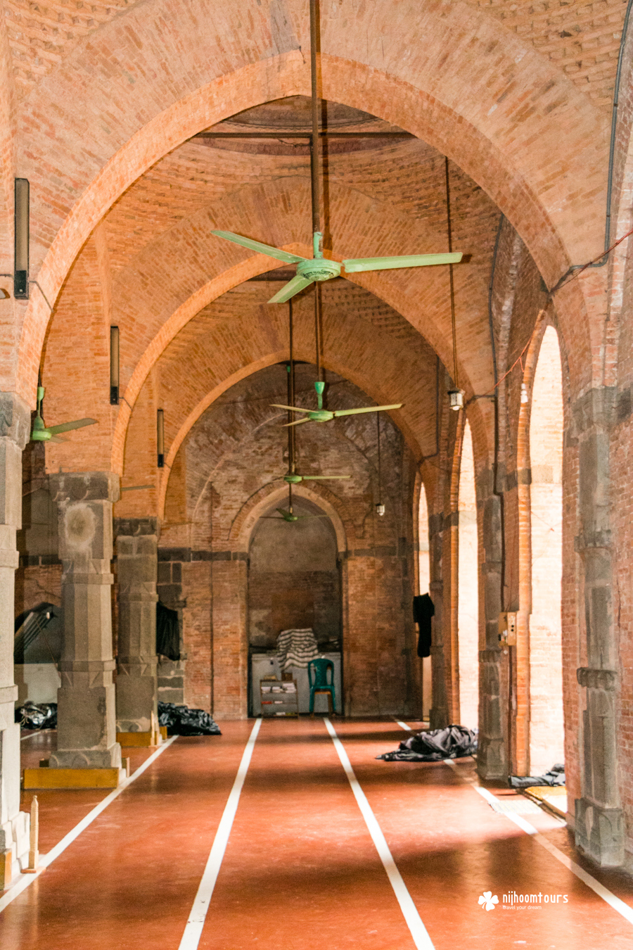 Inside view of Bagha Mosque, a beautiful medieval period mosque in Bangladesh