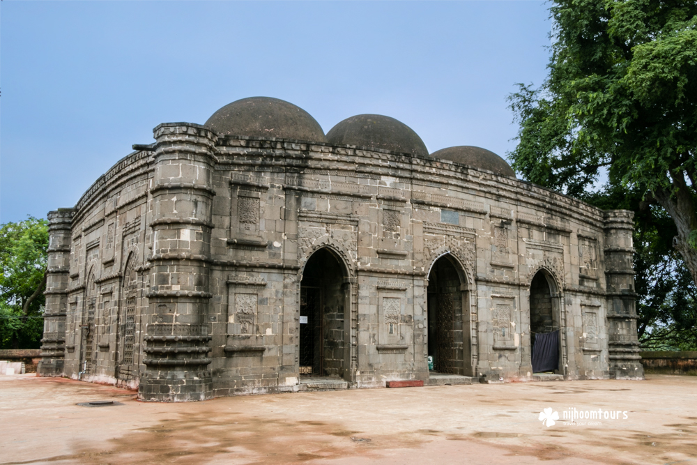 Kusumba Mosque, a beautiful medieval period mosque in Bangladesh.