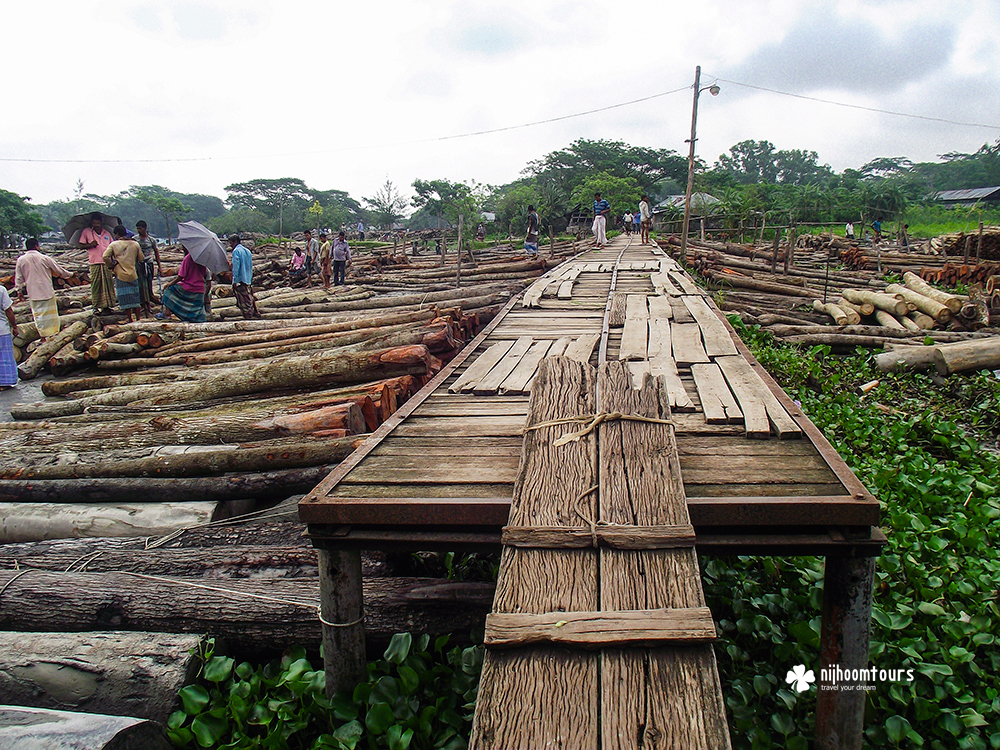 Photo of Bangladesh: Floating timber market of Barisal