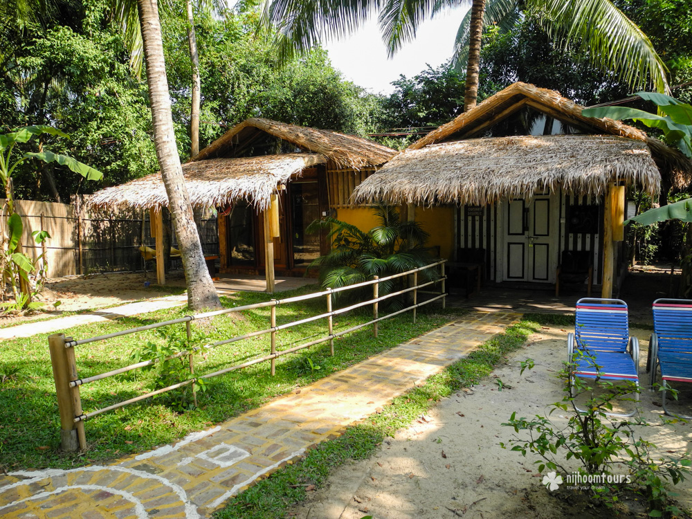 Cottages we stayed at the Eco lodge in Cox's Bazar